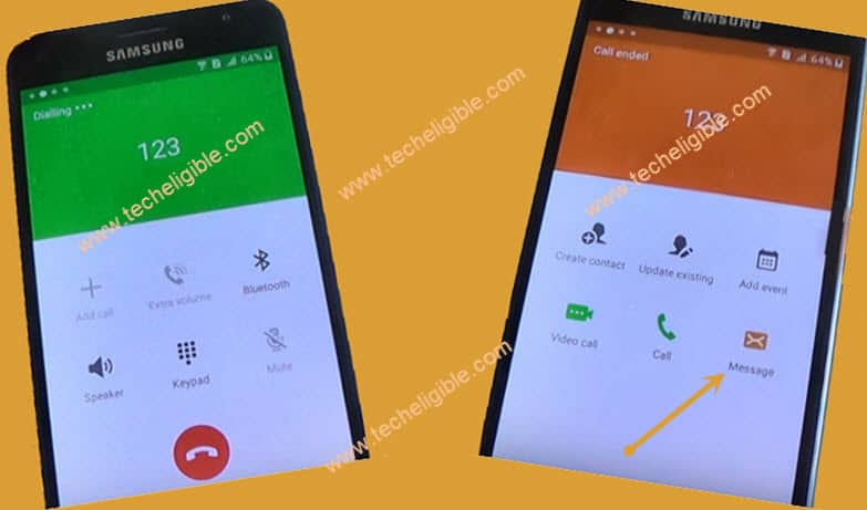 Call Emergency Number Samsung Galaxy J3 to bypass google account