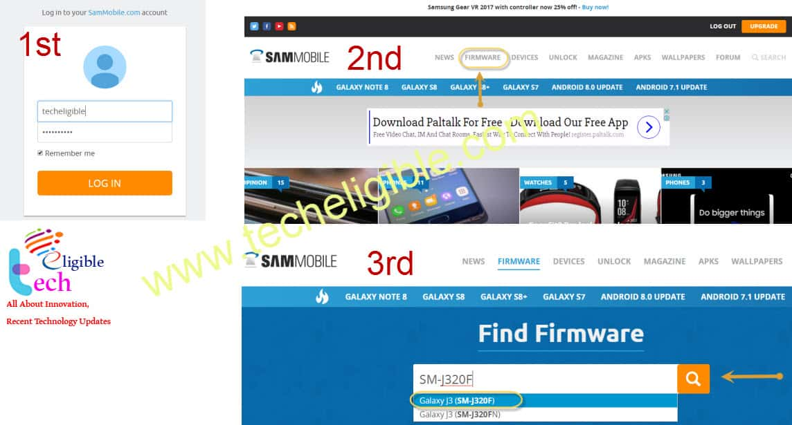 Firmware Galaxy J3, Upgrade J3 Firmware, Downgrade J3 Firmware, Download Galaxy j3 firmware