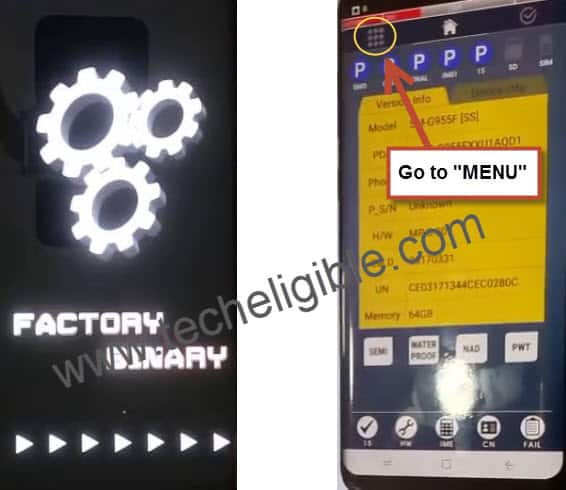 Samsung Galaxy Factory Binary, Galaxy S8 Menu, Galaxy s8 plus menu, Bypass Frp lock, download galaxy s8 combinaton files