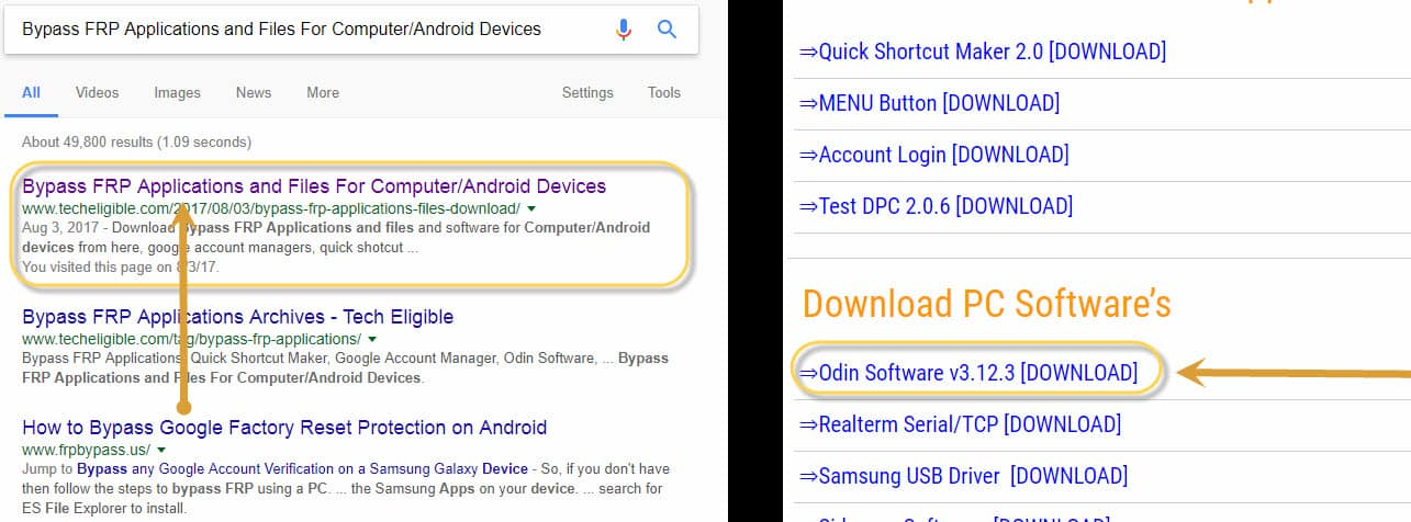 download odin software to flash samsung galaxy