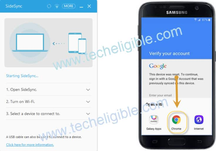 Bypass Google Account Verification, Bypass Galaxy A3 Google Account, Bypass Galaxy A5 Google Account, Bypass Galaxy A7 Google Account. Bypass via Sidesync