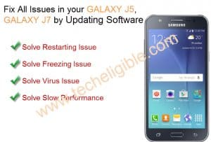 Update Galaxy J5 Software, How to Update Galaxy J7 Software, Solve Restarting issue galaxy j5, Solve freezing Issue Galaxy J5, Fix all issues galaxy j7