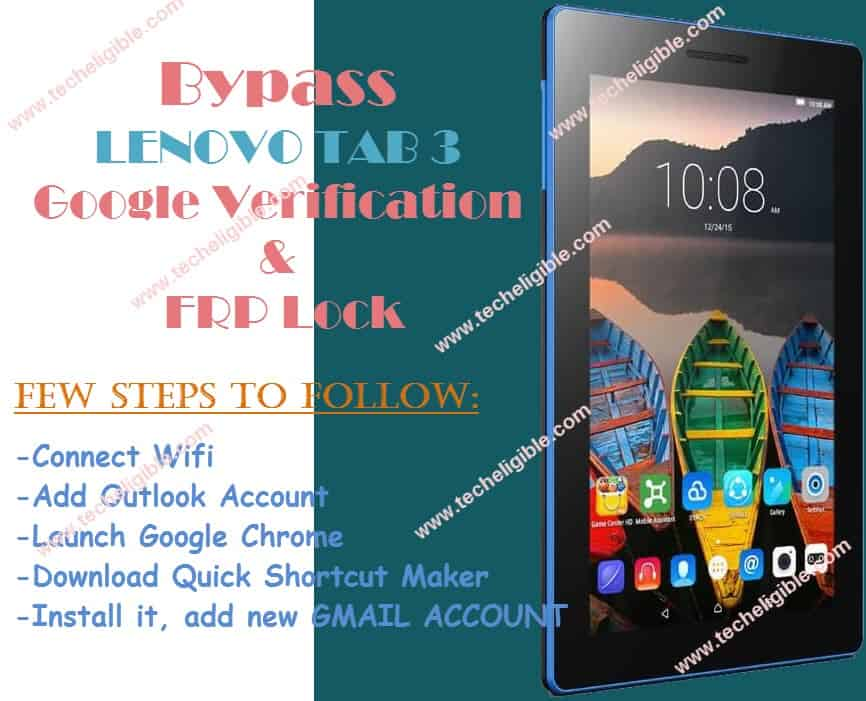 How Bypass Google Account Lenovo Tab3 7 and Unlock FRP