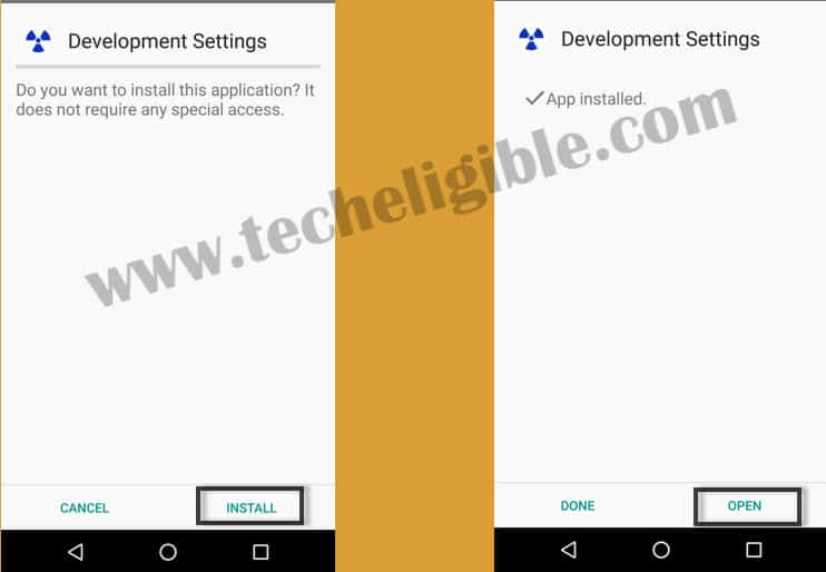 install development settings apk app