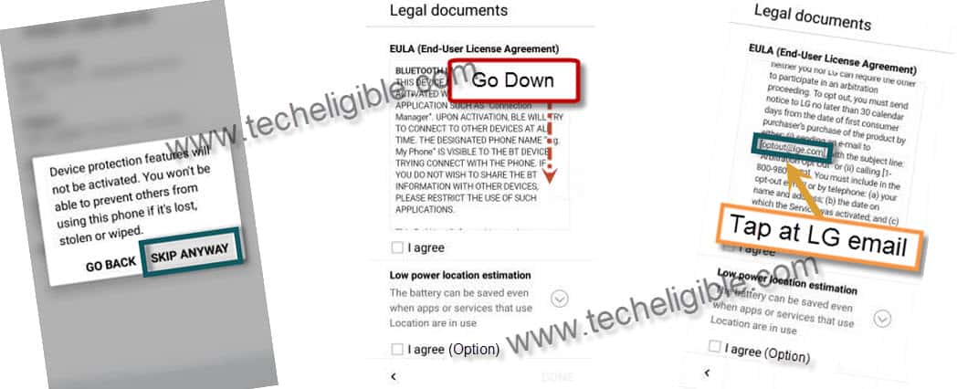 Remove frp lock LG Aristo ms210 sep sec patch, LG Legal Document