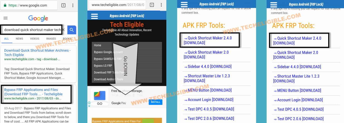 Bypass Google FRP, Device Was Reset, Sign with a google account, bypass frp lock, remove google verification, add new gmail account, download quick shortcut maker