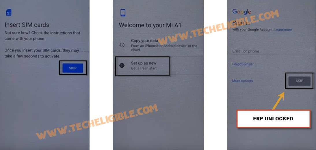 Xiaomi Mi A1 Bypass Google Account, Remove FRP Lock Android 7 1 2