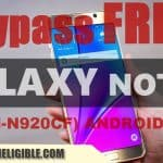 How to Bypass Google Account Galaxy Note 5 (SM-N920CF), Android 7.0