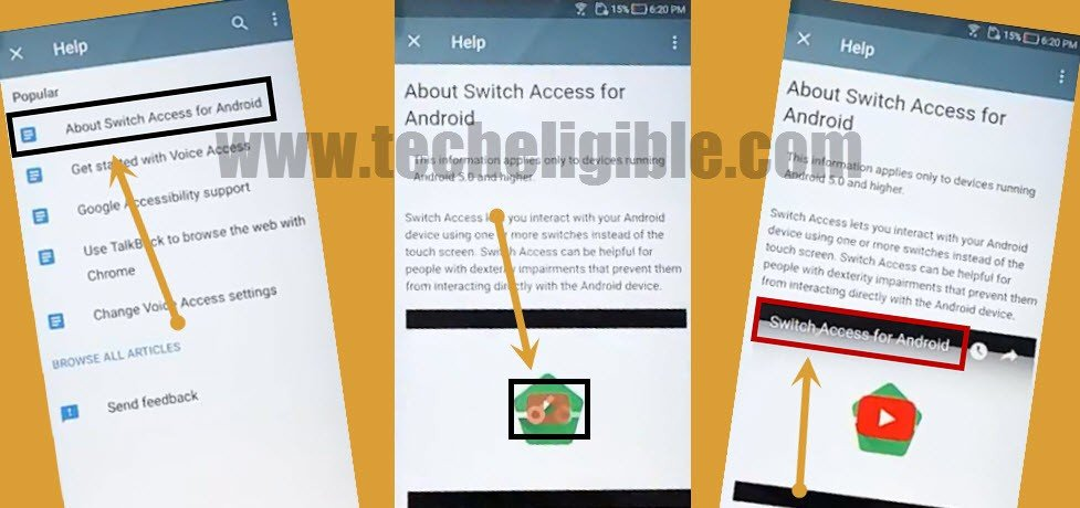 ASUS Zenfone About Switch access for android