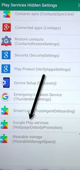 open google play services settings