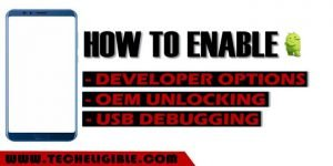 Enable OEM Unlocking, Enable USB Debugging Option, Enable Developer Options