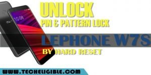 Unlock Forgotten Pin Lock Lephone W7S