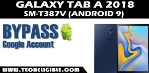 Bypass frp galaxy tab a T387v android 9