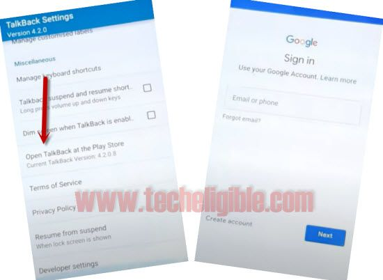 open talkback at the play store from talkback settings to bypass frp Galaxy S5