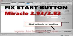 Solve Start Button Issue Miracle Thunder 2.93
