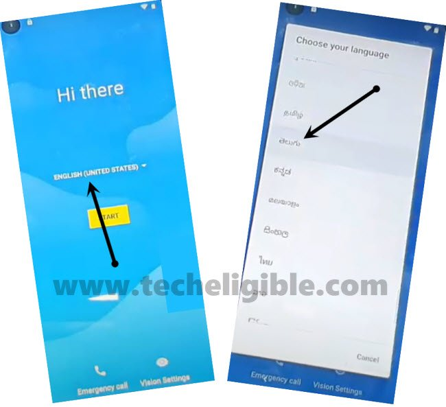 change language to Bypass frp Motorola One Vision Android 9