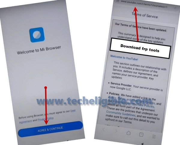 access to browser to Bypass frp Redmi Note 8 Pro emui 11