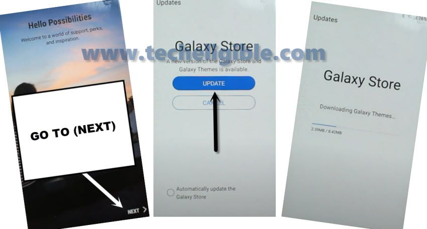 Galaxy Store Updating to bypass frp