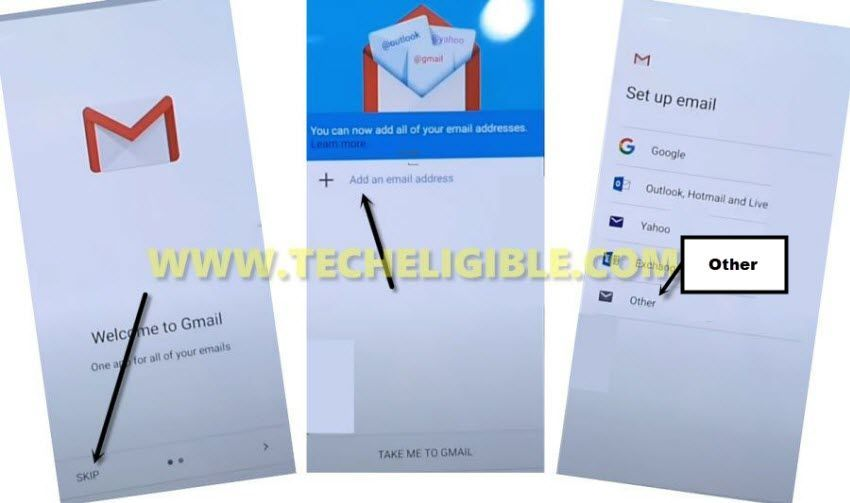 take me to gmail to bypass frp zte blade L130