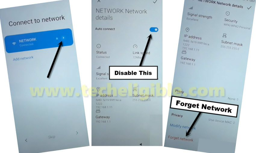 FORGET WiFi network to bypass frp Xiaomi Redmi 9A EMUI 12