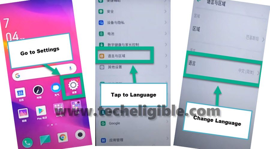 change language in OPPO Renove 4 Pro to bypass google account