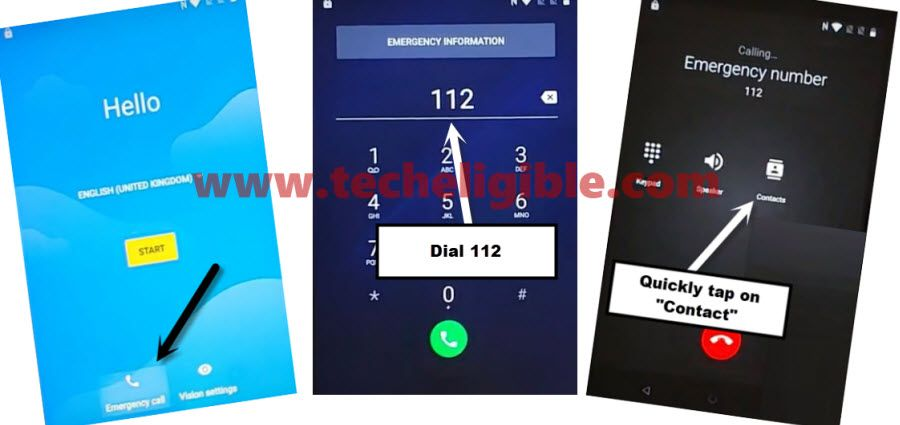 dial emergency code to bypass frp BlackBerry KEYone and KEY 2