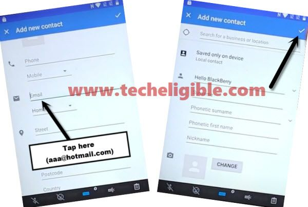 setup email to bypass frp BlackBerry KEYone and KEY 2