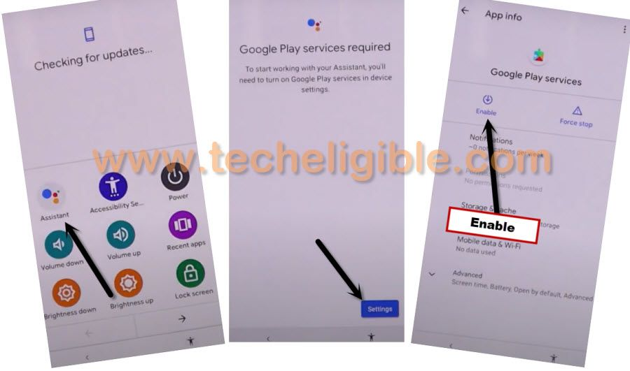 ENABLE Google Play Services to bypass frp Google Pixel 3