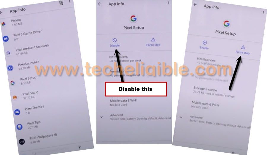 Phone Apps to bypass frp Google Pixel 3