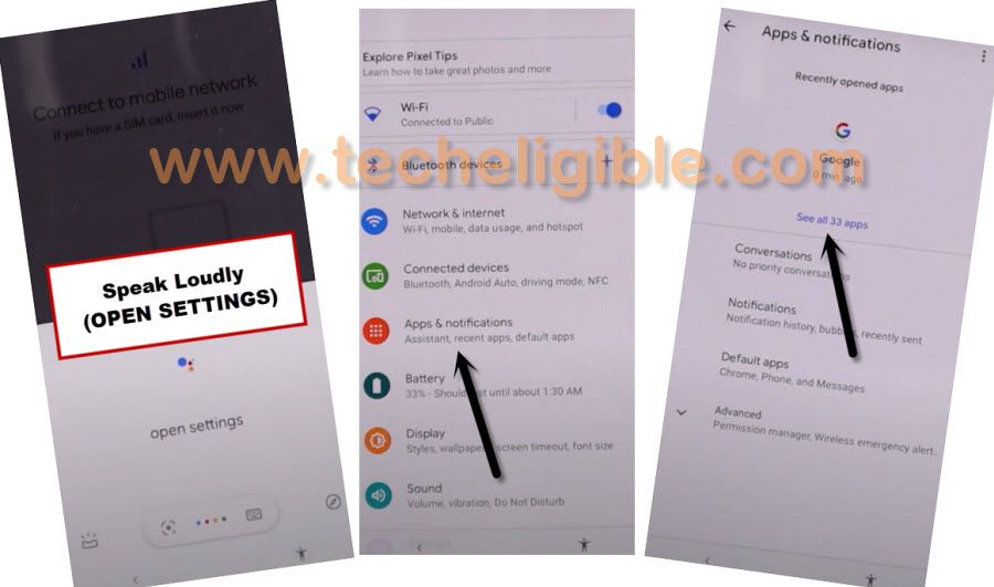 access back to app list to bypass frp Google Pixel 3 Android 11