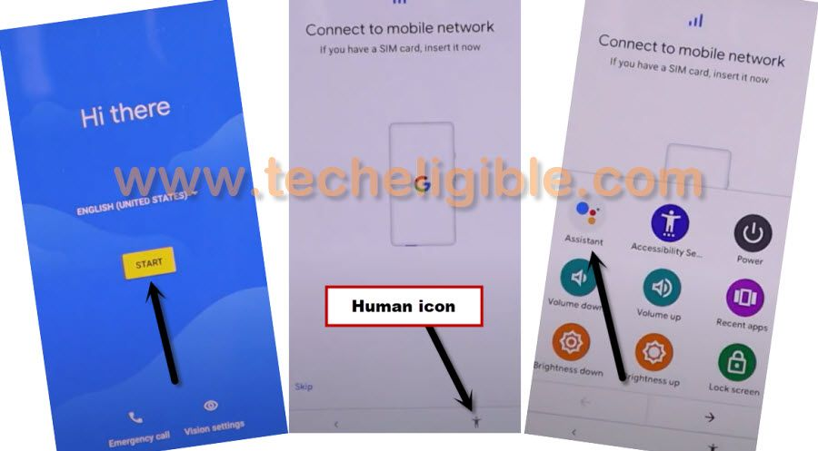hit on human icon from setup wizard
