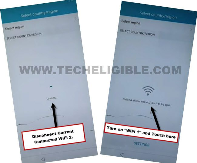 Wifi network disconected