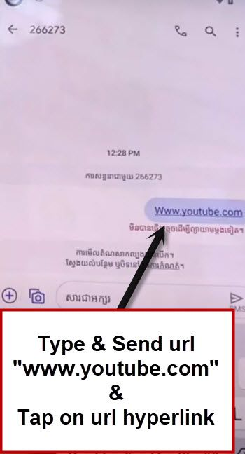tap on url youtube to bypass frp google pixel 4 android 11