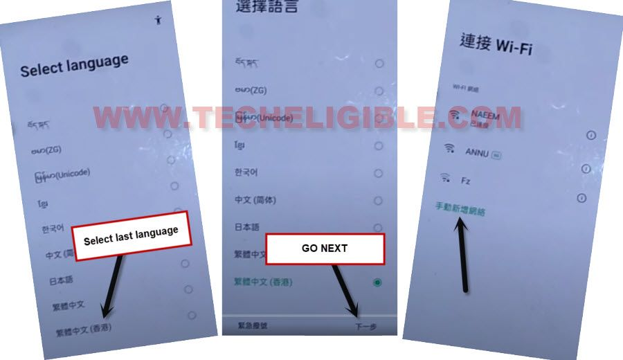 change language to bypass frp all oppo