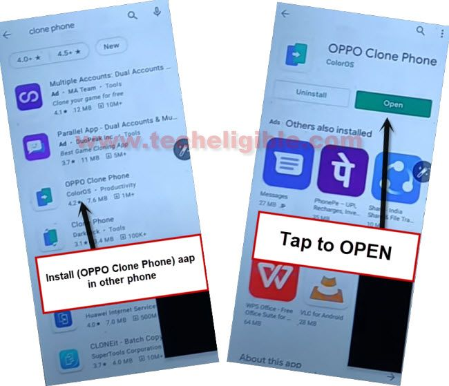 install oppo clone phone app in other android device