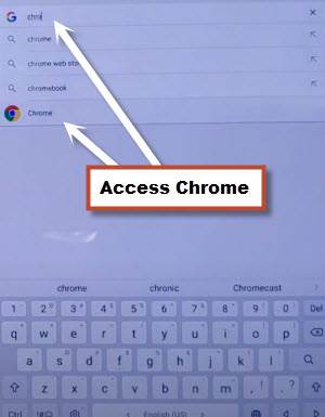 ACCESS Chrome browser from google