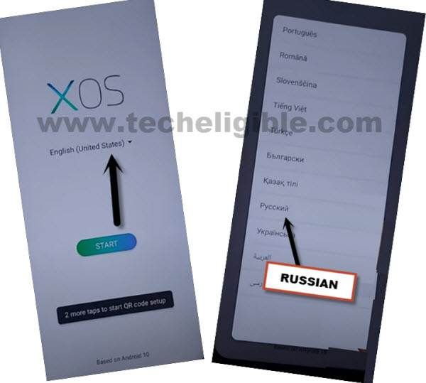 change language to russian to bypass google account infinix note 7