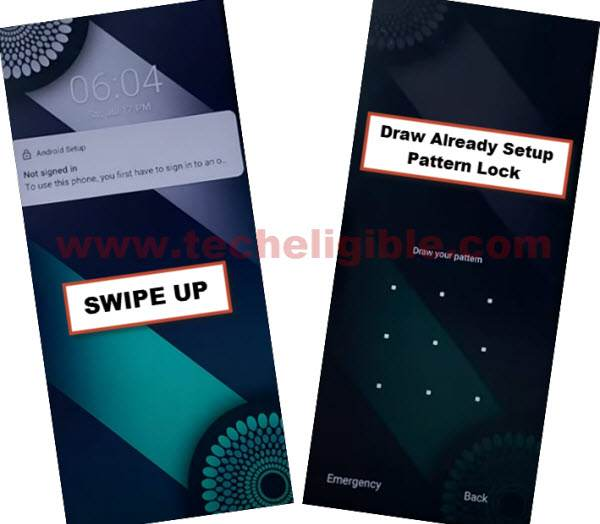 check pattern lock to bypass google account infinix note 7