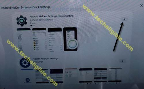 download android hidden settings