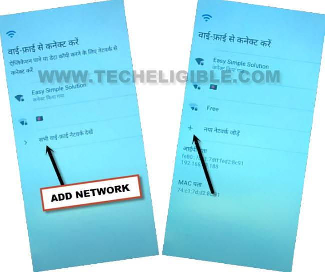 tap to add network hindi language to bypass google account inifnix hot 8 lite without pc